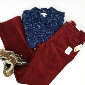 St. John's Bay NWT Maroon Burgundy Corduroy Pants